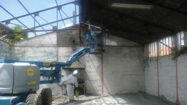 Désamiantage d'un bâtiment par Gautier TP