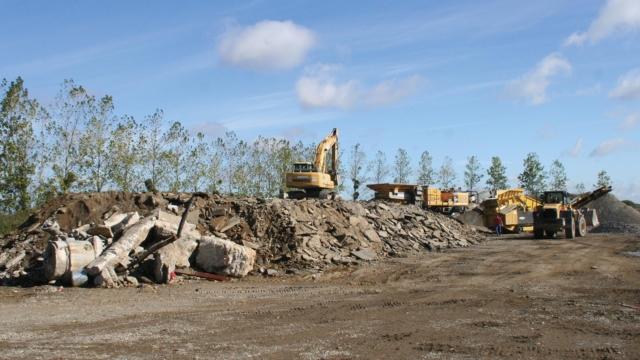 Déchets de chantier en vue de recyclage