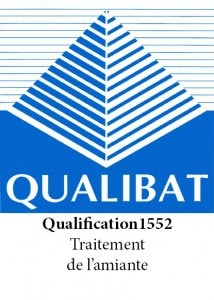 logo qualibat qualification 1152 traitement de l'amiante